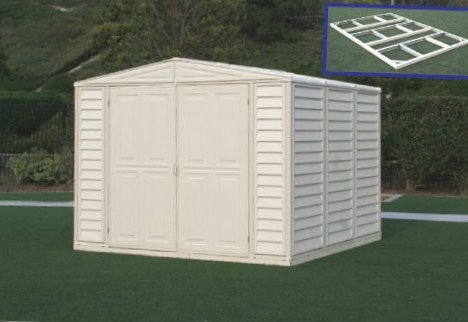 Duramax 00384 – 8'x8' Stronglasting DuraMate Vinyl Shed & Foundation