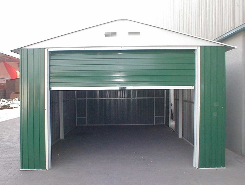 Duramax 55161 Metal Garage – 12' x 26' Metal Storage Shed – Green with White Trim