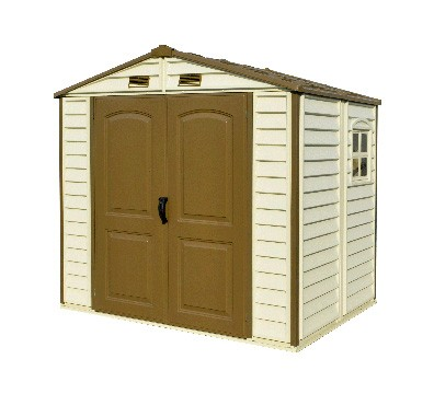 Duramax 30115 – 8'x5.25' StoreAll Vinyl Shed with Foundation