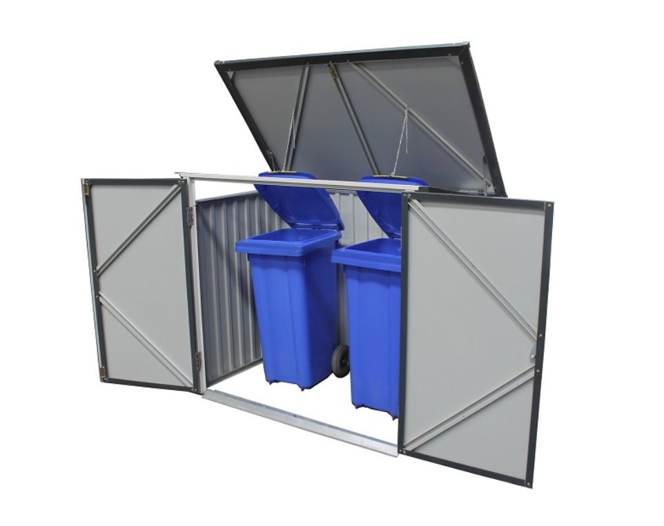 Duramax 74051 5'x3' Metal Garbage/Recycle Bin Enclosure