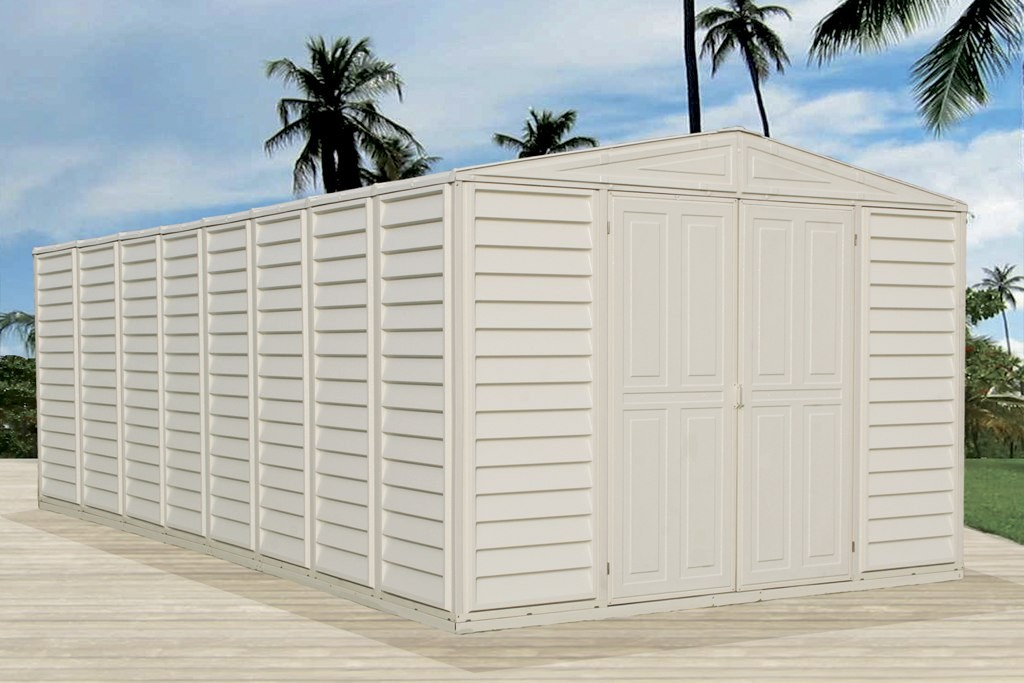 Duramax 00484 – 10.5'x10.5' Stronglasting WoodBridge Vinyl Shed & Foundation