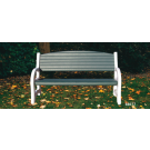 Duramax 84077 - Triple Seat Garden Bench White with Sacramento Green
