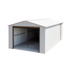 Duramax 54931 Metal Garage – 6' Metal Storage Shed Extension - Off White with Brown Trim