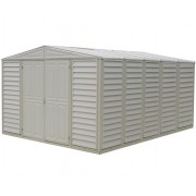 Duramax 00584 – 10.5'x13' Stronglasting WoodBridge Vinyl Shed & Foundation