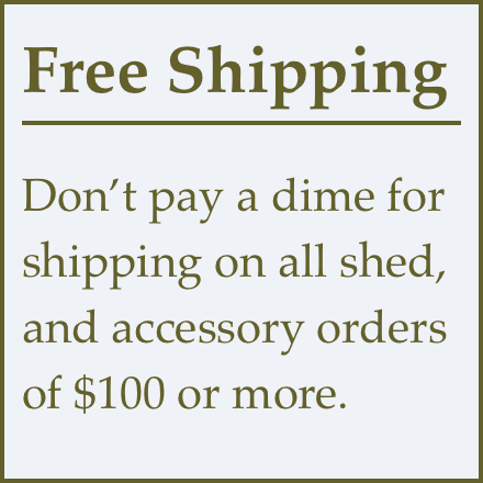 free shipping for orders over $100. No sales tax charged for orders outside Idaho.